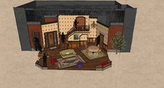 """Evolution of a Set: """"Arsenic and Old Lace"""" - Lyric Arts Main Street Stage Lyric Arts Main Street Stage"""