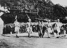 British surrender party arriving at Ford Motor Company, where the surrender document would be signed. (Text modified from http://sg.sg/GGYm97)