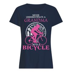 Never Understimate A Grandma with A Bicycle. Wardrobe Staples, Classic T Shirts, Bicycle, Mens Tops, Fashion, Bicycle Kick, Bike, Moda, La Mode