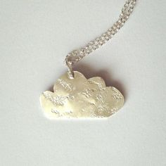 Silver Rain Cloud Pendant Necklace Recycled Sterling by firewhite