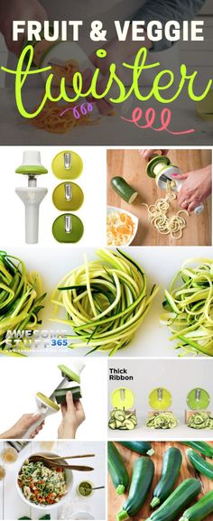 How about cooking a veggie pasta to kick off the year? Now you can make healthy and yummy meals with this fruit and veggie twister. #spiralizer Check it out ⬆⬆⬆