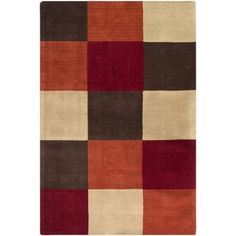 Loft Chocolate And Orange Rectangular 2 Ft X 3 Rug Surya Area Rugs Home