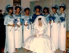 Polaroid photo of a bride with her attendants, 1960's