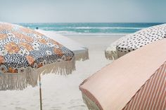 Sunday Supply Co. Beach Umbrellas >>> http://honestlywtf.com/cool-hunting/sunday-supply-co-beach-umbrellas/