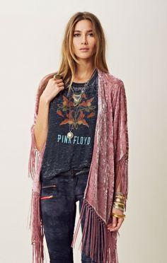 Velvet Fringe Kimono
