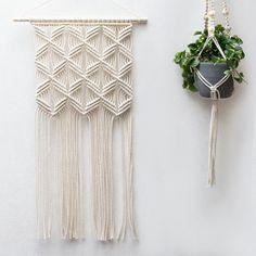 Macrame Wall Hanging / Modern Macrame / Weaving / by TeddyandWool