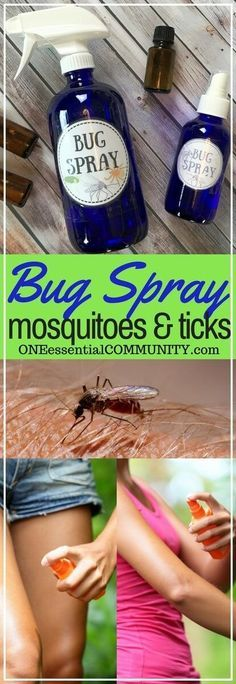 kid-safe and effective DIY bug spray recipes using essential oils-- includes FREE PRINTABLES for recipes, charts, and bottle labels!!