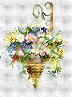 Kanaviçe Çiçek Şablonları (1)
