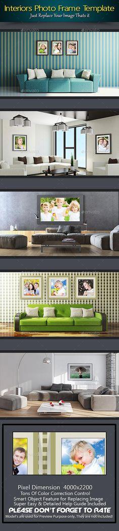 Interiors Photo Frame Template