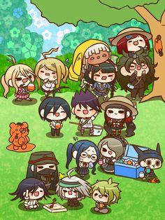 The whole ndrv3 squad hanging out  Check out 湯丸 (@yumarumaruyuma): https://twitter.com/yumarumaruyuma?s=09