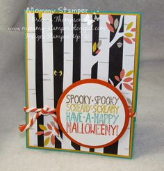 Stampin' Up!, Mingle all the Way, Motley Monsters DSP, 2014 Holiday Catalog, Mommy Stamper, Halloween