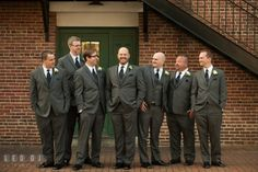 Group shot of Groom with Groom's Party. The Tidewater Inn wedding, Easton, Eastern Shore, Maryland, by wedding photographers of Leo Dj Photography. http://leodjphoto.com