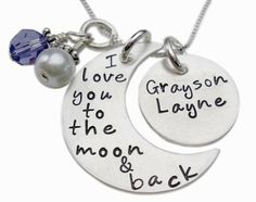 Personalized I Love You to the Moon and Back Necklace by bridgette.jons
