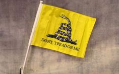 Don't Tread On Me Car Window Flag