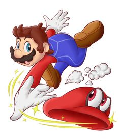 Super Mario Odyssey - Mario and Cappy Super Mario Bros, Super Mario Brothers, Super Smash Bros, Mario And Luigi Games, Mario Kart, Metroid, Instructions Lego, Super Smash Ultimate, Care Bear Party