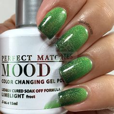 I have a few more color changing Mood gel polishes from LeChat Perfect Match today. Mood polishes are always a lot of fun to wear since the colors are always changing based on temperature, and the… Holiday Nail Designs, Colorful Nail Designs, Cute Nail Designs, Holiday Nails, Mood Changing Nail Polish, Mood Gel Polish, Nail Polish Colors, Fancy Nails, Love Nails