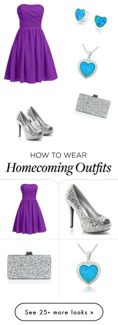 """Purple, blue and silver"" by lordeia on Polyvore featuring Glitzy Rocks, Bling Jewelry and Edie Parker"
