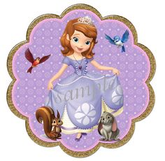 Sofia the First  Banner   INSTANT DOWNLOAD Glitter Look