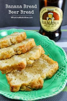 Use a fun beer next time you make beer bread - Like this Banana Bread Beer! Plus, this is the BEST beer bread recipe I've found!
