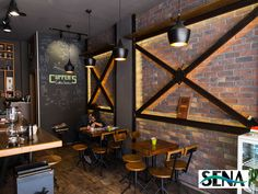 İşyeri Taş Kaplama | Taş Duvar Dekorasyonu İç Cephe Kültür Taş Kaplama Modelleri Pub Design, Coffee Shop Design, Bakery Design, Design Hotel, Cafe Restaurant, Restaurant Design, Urban Interior Design, Bar Interior, Cafe Bistro