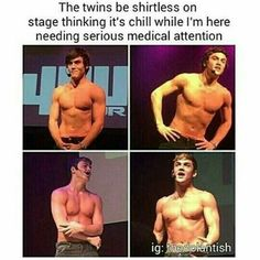 Omfg they like leave me breathless or something they are so freaking hot OMG there muscles are so big!! I can't even handle it holy crap lol