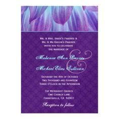 MAYBE   - Aqua and Purple Dahlia Flower Wedding S721 Custom Invitations