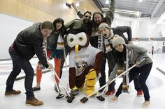 Owly lead Team HootSuite at the Bonspiel Curling event by Cystic Fibrosis Vancouver. Owly declined interviews, but graciously posed for photos.