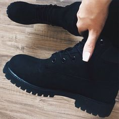 actually, i would be totally fine with these all black timberlands as well.