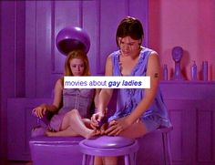 Movies about gay ladies - featured in my feminist reading list / gift guide at http://iwasahighschoolfeminist.com/reading-list-gift-guide/
