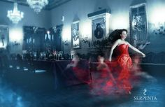 Floating ghost. Woman i red, ghost, woman, castle, slots hall, red, dress