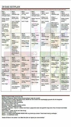 dieet menu week 1
