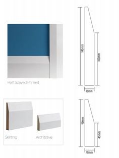 Half Spayed (chamfered) - primed skirting and architrave. This is a popular choice among our clients here at RENOVA.