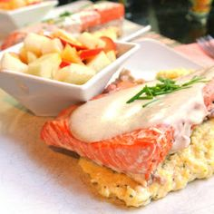 Gourmet Cooking For Two: Salmon With Browned Butter over Polenta