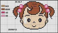 JÁ IMPRIMI Mini Cross Stitch, Cross Stitch Heart, Cross Stitch Alphabet, Cross Stitch Patterns, Embroidery Patterns, Baby Quilt Patterns, Canvas Patterns, Pixel Crochet Blanket, Donia
