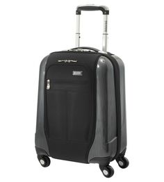 Ricardo Beverly Hills Crystal City 17in Expandable Spinner Universal Carry On Black 051-17-001-4WB