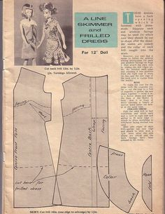 """Herbie's Doll Sewing, Knitting & Crochet Pattern Collection: 1960's Pattern Book for """"Teen Dolls"""" by Enid Gilchrist"""