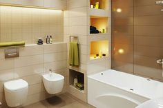 Beige and brown bathroom, a well decorated bathroom