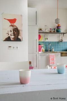 white and splashes of colour. Binti Home.