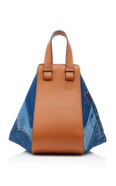 Hammock Denim Small Leather Bag by Loewe | Moda Operandi