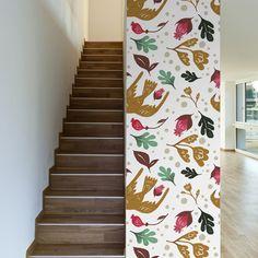 "Found it at Wayfair - Scandinavian Removable 10' x 20"" Floral Wallpaper"