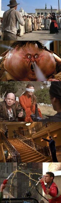 I predatori dell'arca perduta, Grosso guaio a Chinatown, La storia fantastica, Out of sight e Zoolander: Cinque divertenti scene di morte nei film.