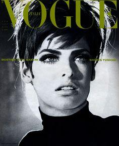 linda evangelista- italian vogue, 1990