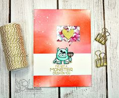Your Next Stamp:  Silly Love Monsters stamp and die sets  #yournextstamp