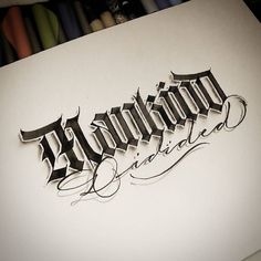 I need more blackletter in my life. Type by @paindesignart - #typegang - typegang.com | typegang.com #typegang #typography