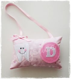 Pembe Diş Perisi Yastığı * Handmade Baby Pillow * Bebek Yastığı * Baby Shower * Baby Room / Tooth Fairy / Diş Buğdayı / www.misilaa.com