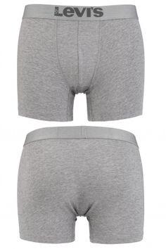 Levis Plain Cotton Boxer Shorts In Middle Grey Melange  £20.99
