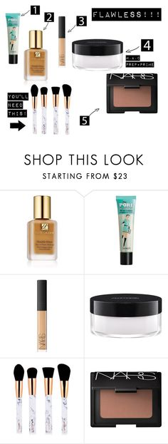"""Flawless!"" by maria-stratulat on Polyvore featuring beauty, Estée Lauder, Benefit, NARS Cosmetics and MAC Cosmetics"
