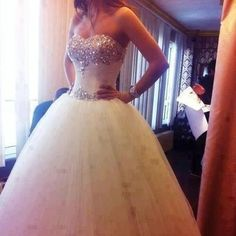 My wedding gown. Who cares if I'm and have no idea if anyone will ever propose to me. This will be my wedding dress. Princess Wedding Dresses, Dream Wedding Dresses, Wedding Gowns, Prom Dresses, Tulle Wedding, Cinderella Wedding, Bridal Dresses, Dresses 2014, Wedding Inspiration