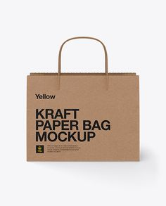 Paper Shopping Bag W/ Twisted Paper Handles Mockup. Preview