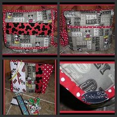 MICKEY MOUSE DISNEY CUTE YEAR ROUND MESSENGER BAG SET cosmetic case + Key Fob